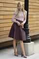 Apparalel Vegan Leather Skirt Wine
