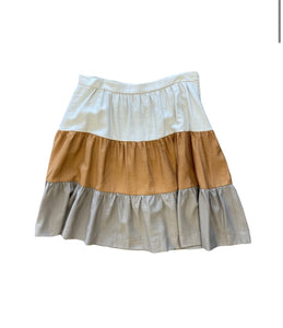 Tiered Skirt With Side Zipper