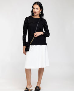 Bliss Studded Sleeve Sweater