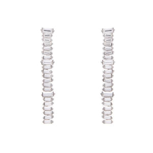 Kaia Earrings Rhodium