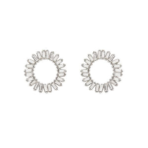 Reese Earrings Rhodium