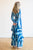 Apparalel Tiered Maxi Dress Blue Watercolor