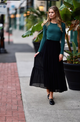 Bliss Chiffon Tiered Maxi Skirt Black