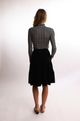 Bliss Tiered Corduroy Skirt Black