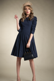 Dress With Ruched Sleeves