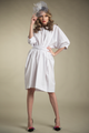 Boxy Cotton Dress With Tie