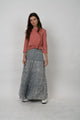Tiered Mineral Skirt Gray Wash