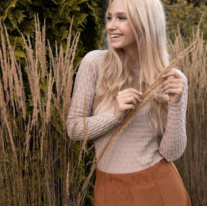 Cinnamon Textured Sweater