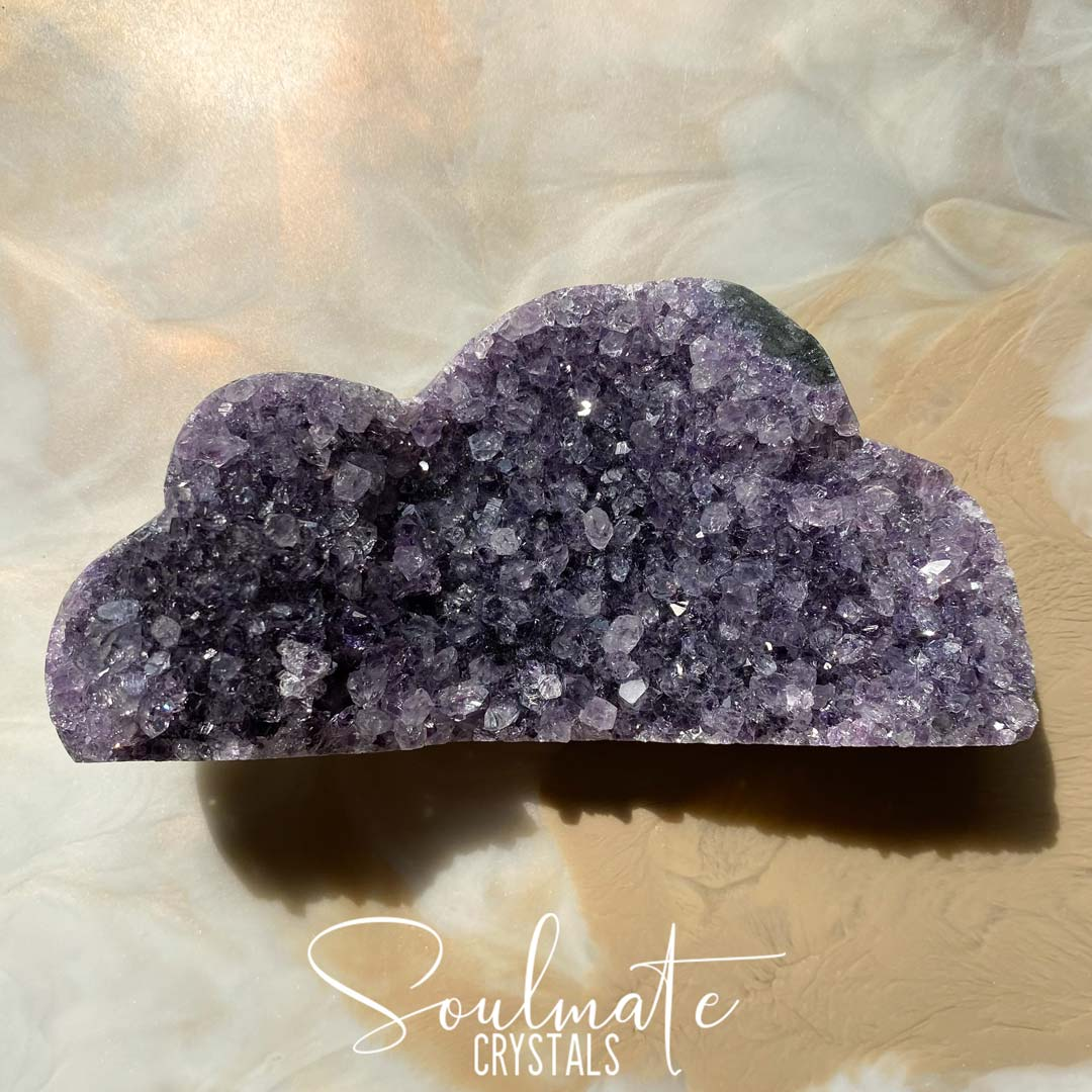 Soulmate Crystals Amethyst Raw Natural Crystal Cloud, Purple, Green and Black Crystal for Calm, Serenity and Reduce Anxiety