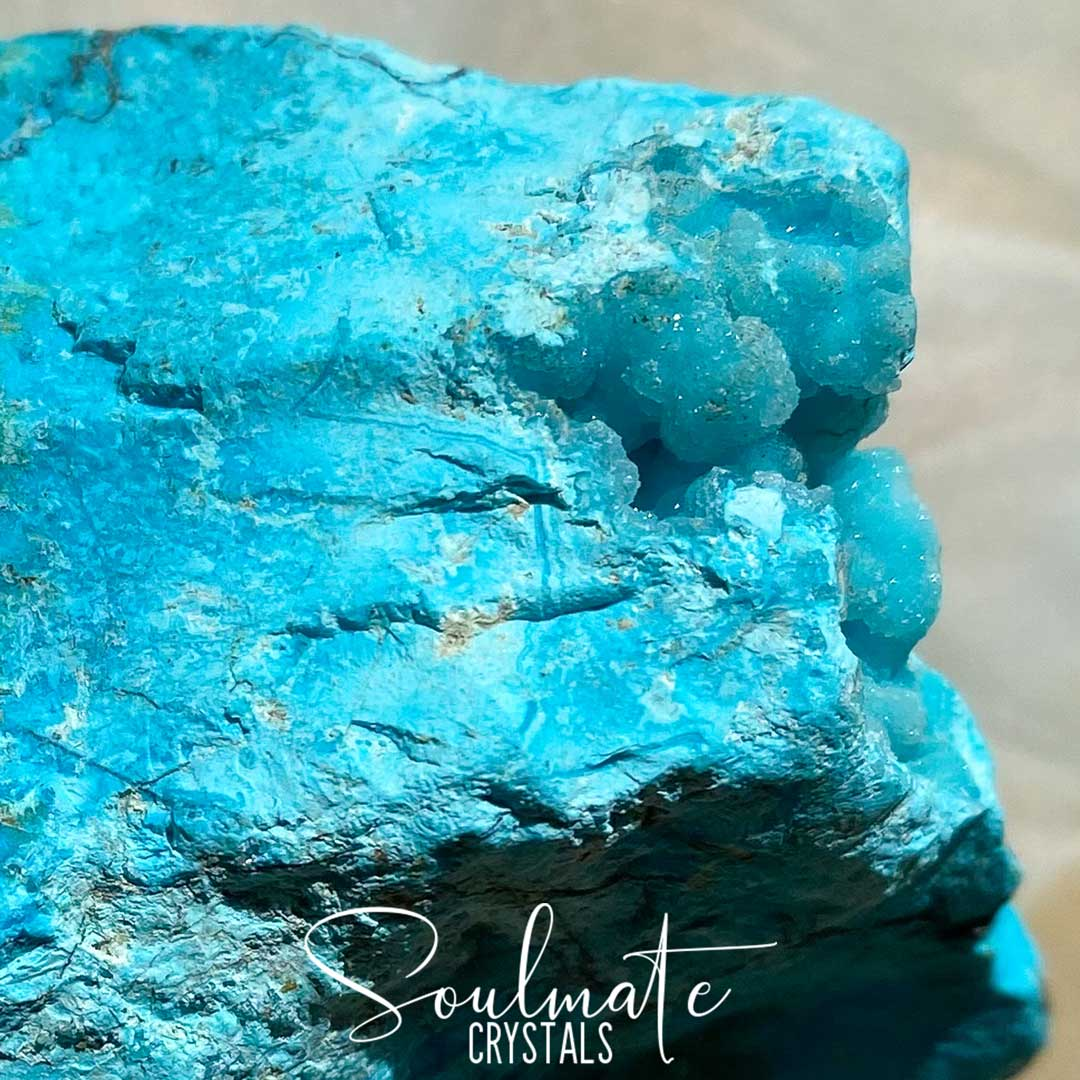 Soulmate Crystals Chrysocolla Raw Natural Stone, Aqua Blue Crystal for Creative Potential, Divine Feminine, Harmony, Flow and Empowerment, Grade A