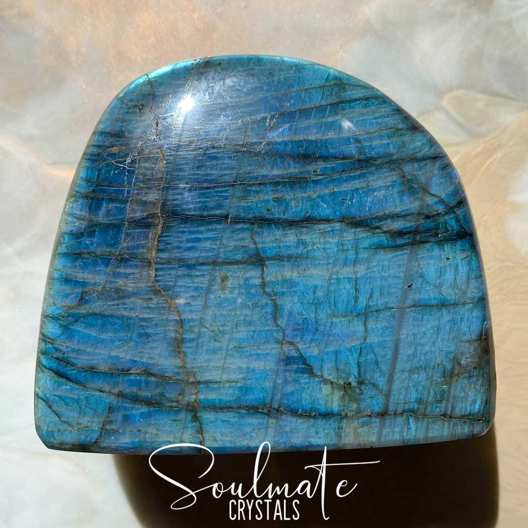 Soulmate Crystals Labradorite Polished Freeform Small XQ, Blue Flashy Crystal, Extra Quality Grade Mineral Specimen