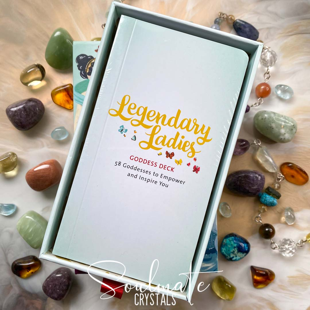 Soulmate Crystals Legendary Ladies Goddess Deck Ann Shen, Boxed Set Illustrated Oracle Cards, Goddesses, Female Deities for Divination
