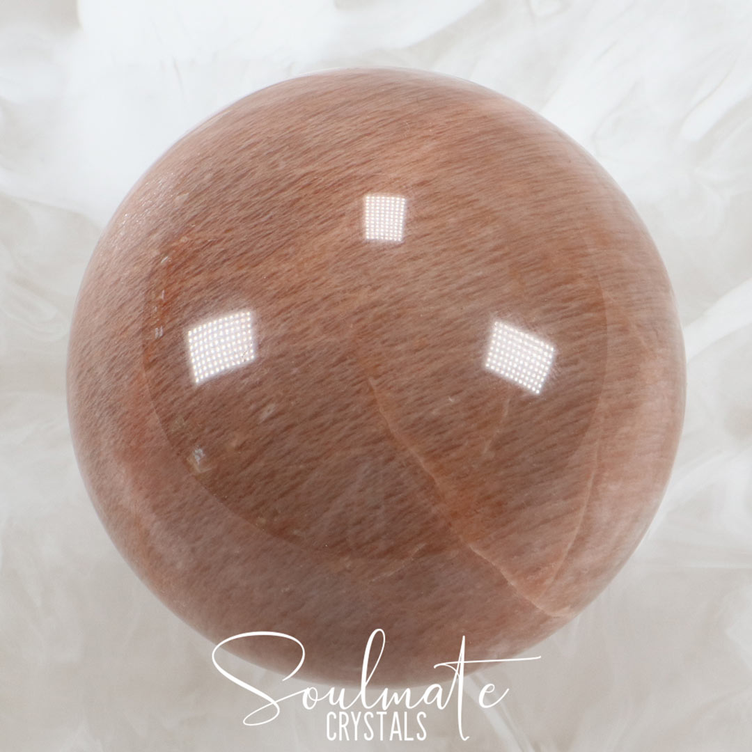PEACH MOONSTONE POLISHED SPHERE