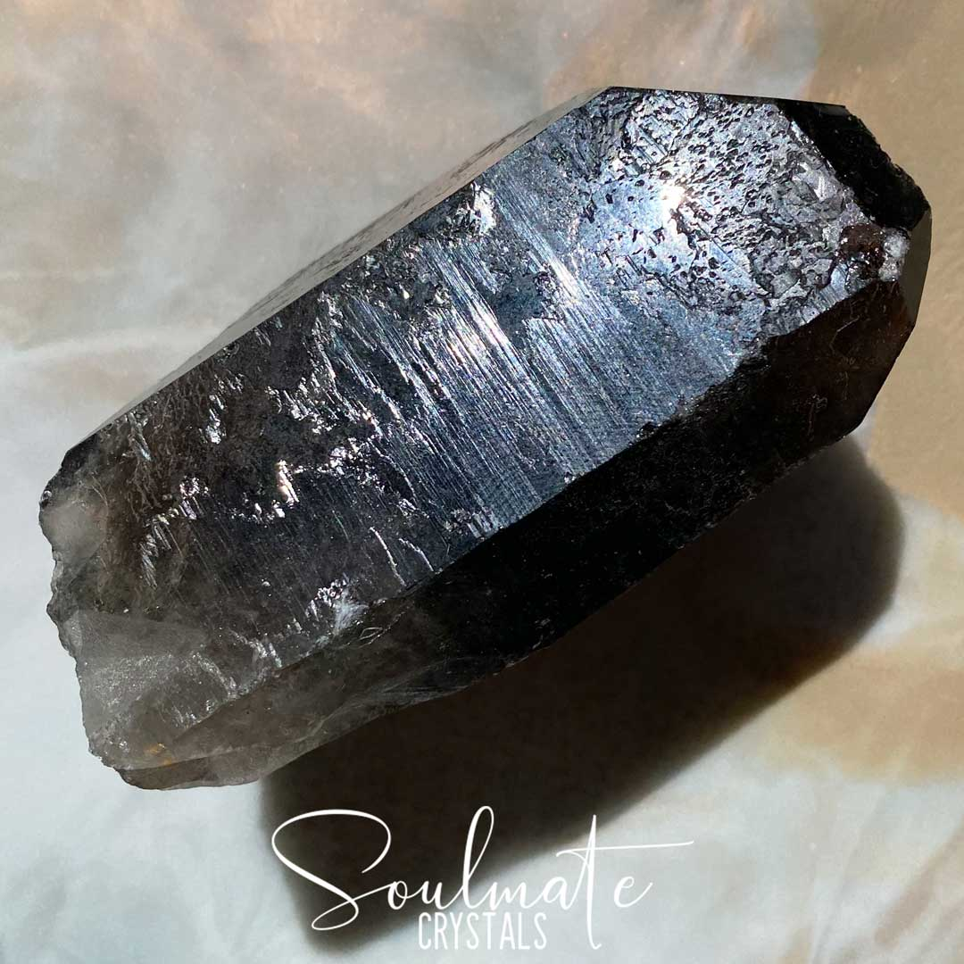 Soulmate Crystals Smoky Quartz Raw Point Natural Wand, Unpolished Smoky Quartz Crystal Point, Grounding, Size Jumbo