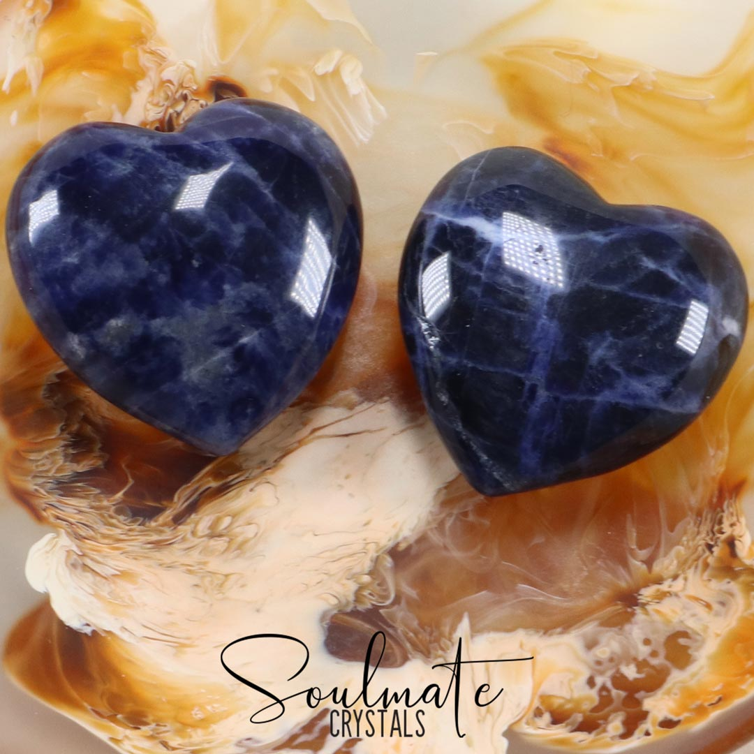 SODALITE POLISHED CRYSTAL HEART SMALL