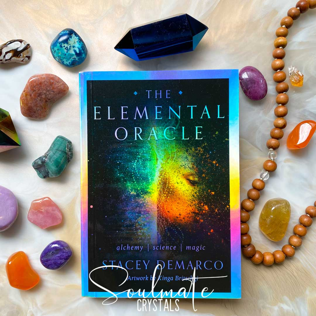 Soulmate Crystals The Elemental Oracle Card Deck Stacey Demarco, Boxed Set of Oracle Cards for Divination