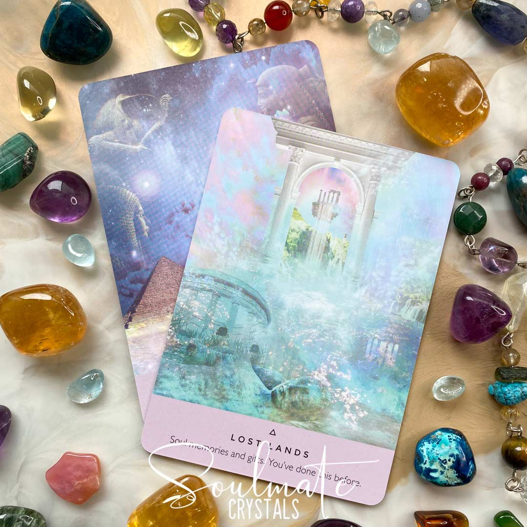 Soulmate Crystals The Starseed Oracle Card Deck Rebecca Campbell, Blue Oracle Card Boxed Set of Cards for Divination