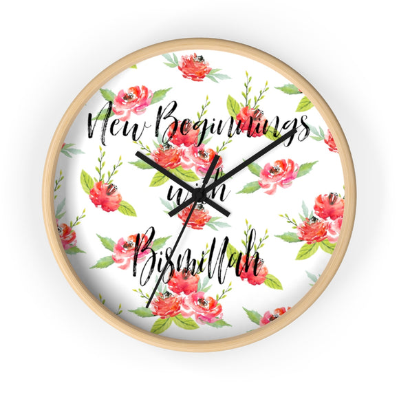 New Beginnings with Bismillah Wall clock - madihacreates