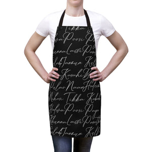 Desi Kitchen Apron (black)