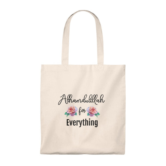 Alhamdulillah for everything floral Tote Bag - Vintage