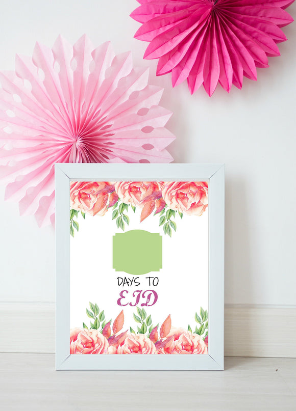 Days to Eid instant printable - madihacreates
