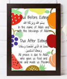 Dua Before and After Eating fun fruity printable - madihacreates