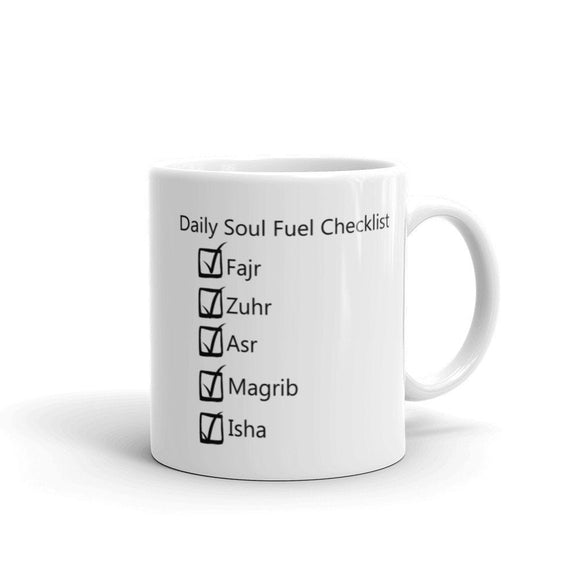 Daily Soul Fuel Checklist  Mug, Daily Salah checklist mug,Salah Mug - madihacreates