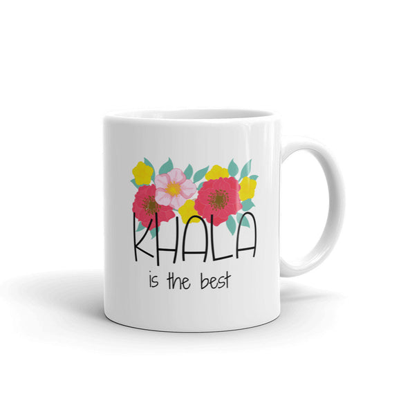 Khala is the best mug, Maternal Aunt gift , khala gift, Beautiful floral design mug - madihacreates