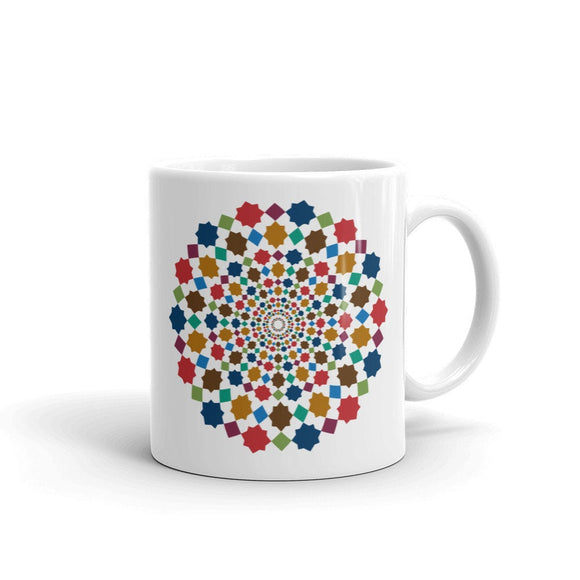 Moroccan vibrant colorful design Mug - madihacreates