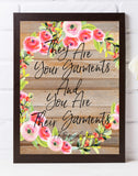 "They are your garments and you are their garments"" marriage Quranic ayah print, Marriage  farmhouse style Islamic print - madihacreates"