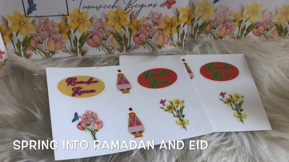 Spring into Ramadan sticker sheet