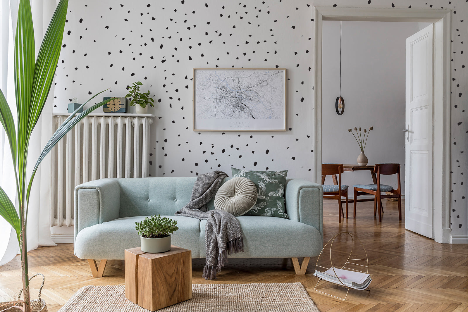 Dalmatian Dots peel and stick wall decals