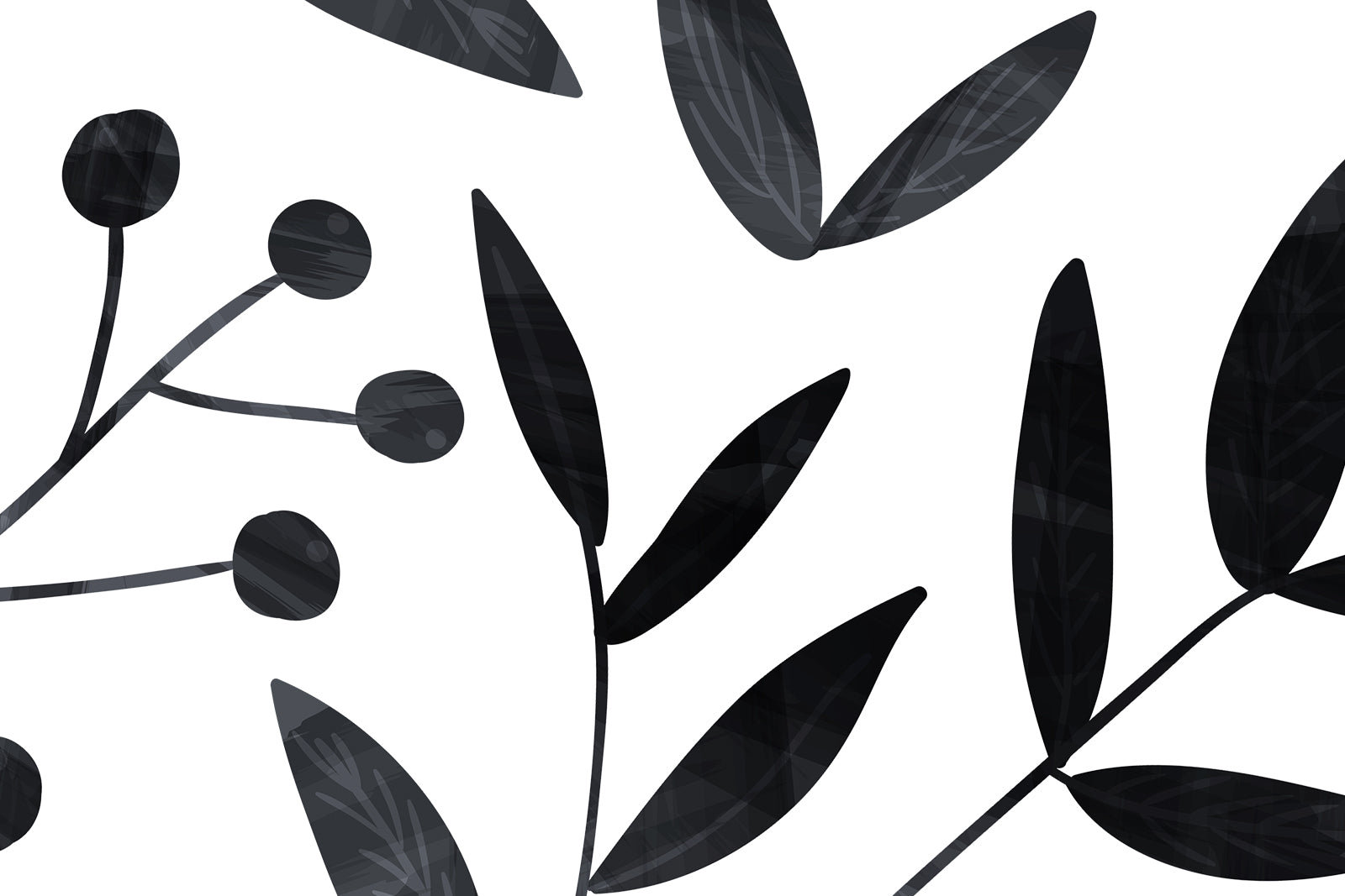 Twiggy leaves and branches wall decals