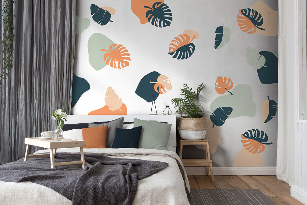 Rainforest Tropical leaves wall decals