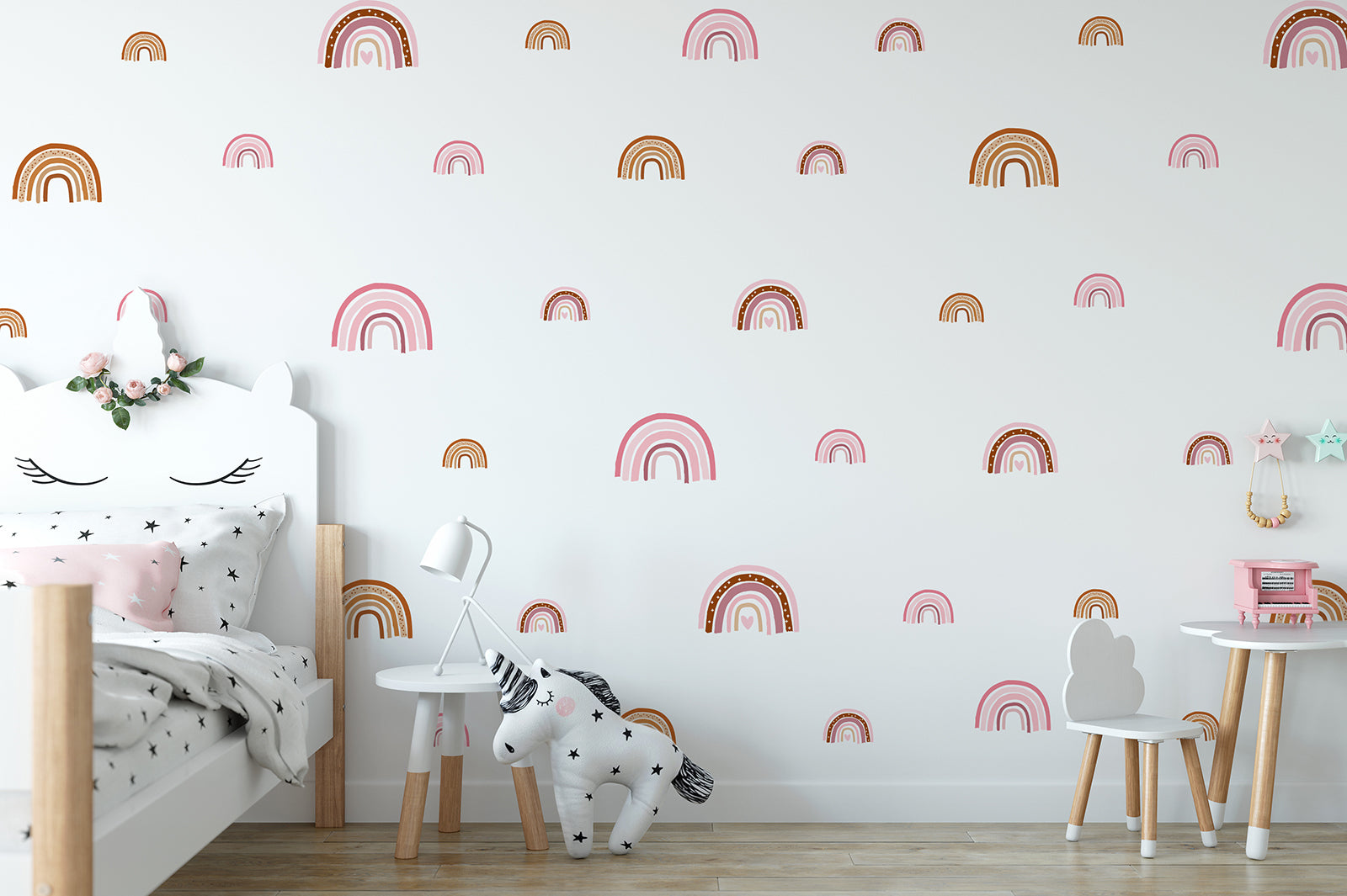 Small rainbow wall decals