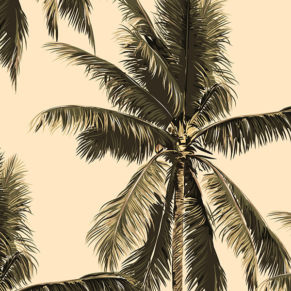 Shady Palm Tree Wallpaper peel and stick