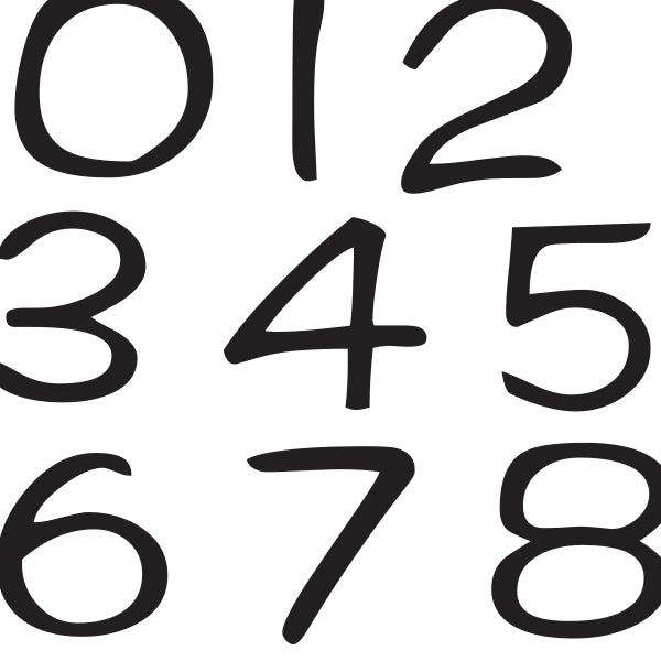 Math Whiz Wall decals peel and stick numbers