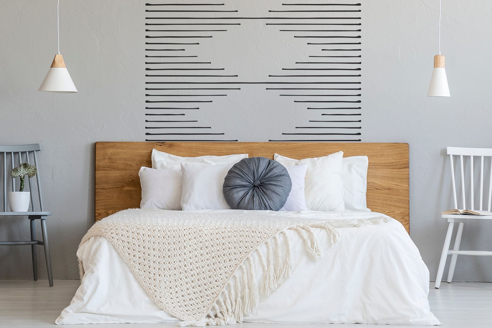 Dashing peel and stick wall decals black lines