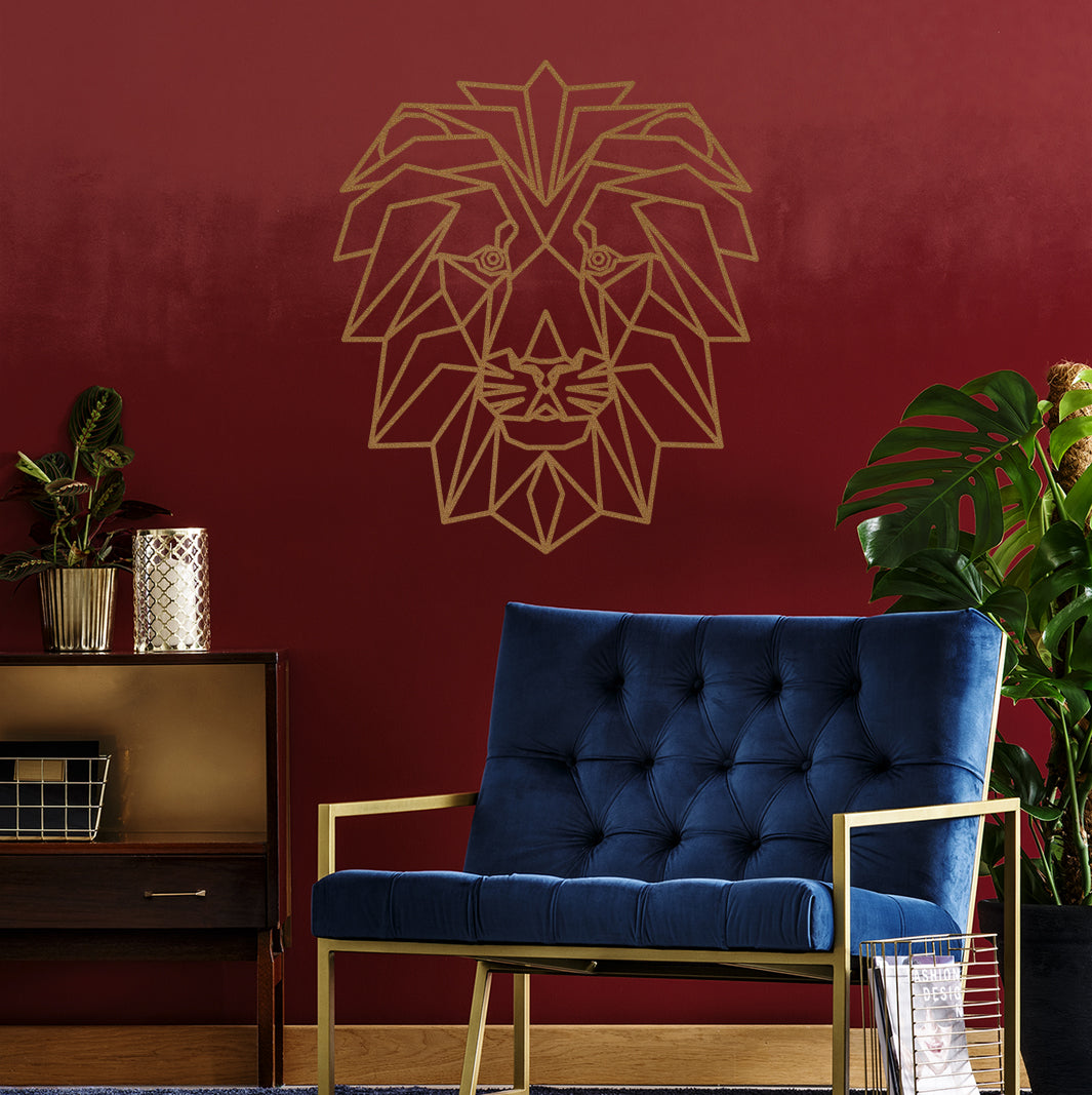 Mane wall decals peel and stick lion geometric