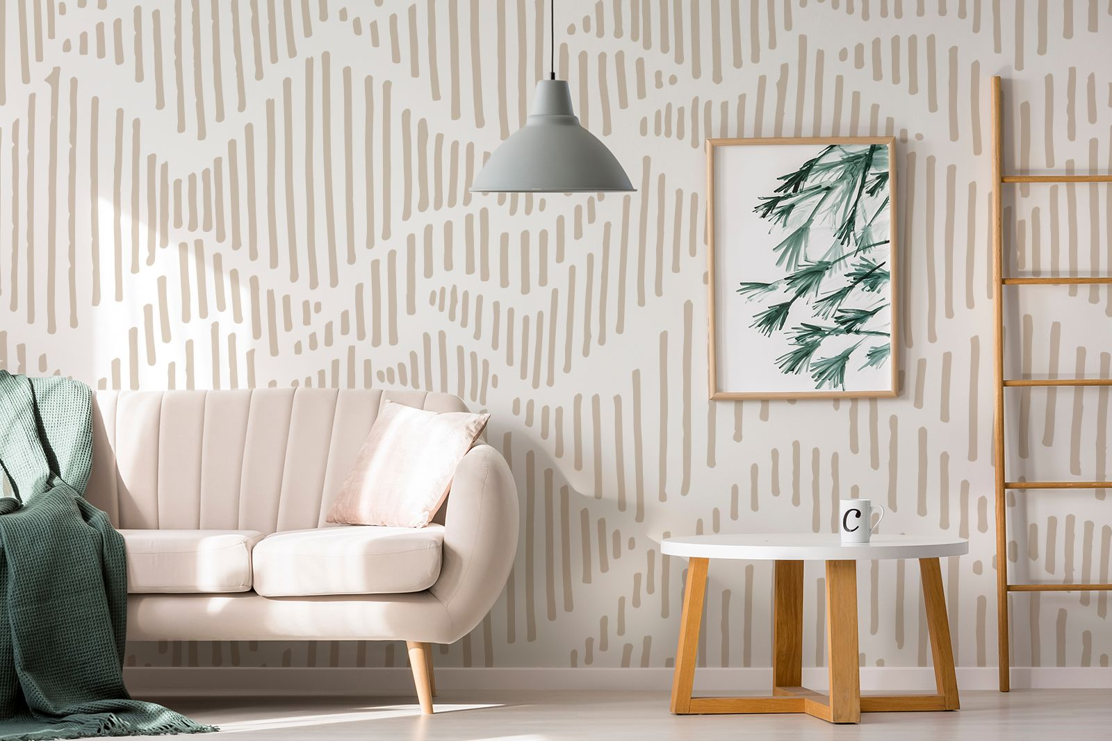 Geometric Lines Peel and stick wall mural , abstract lines