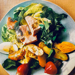 Beet, Potato Salmon Salad with Dill Dressing