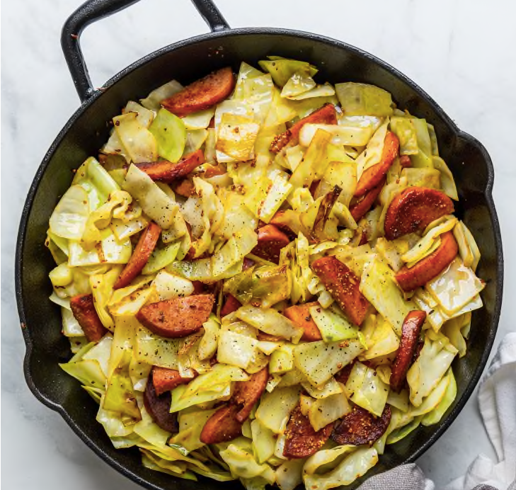 Kielbasa and Cabbage Skillet