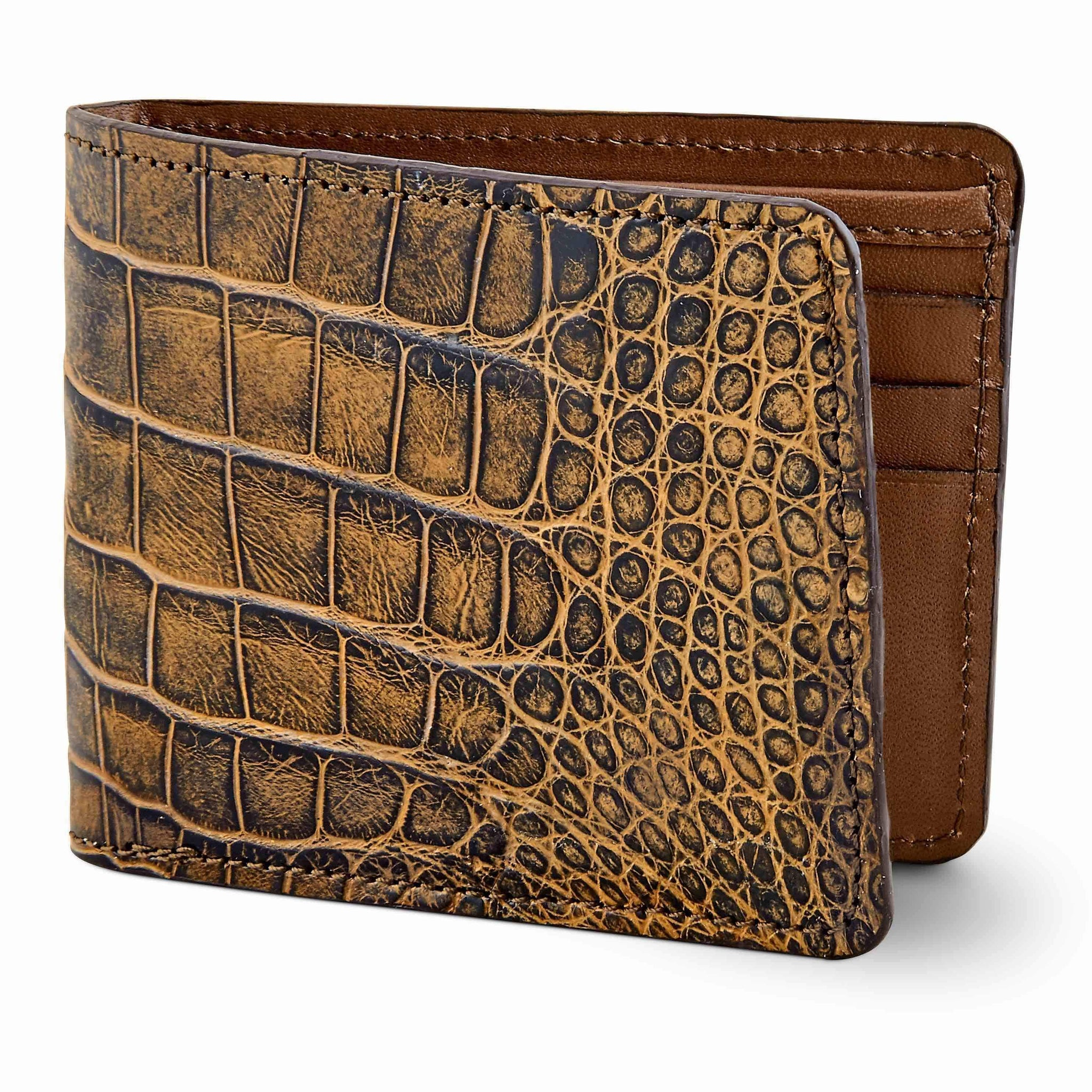Custom alligator skin wallet
