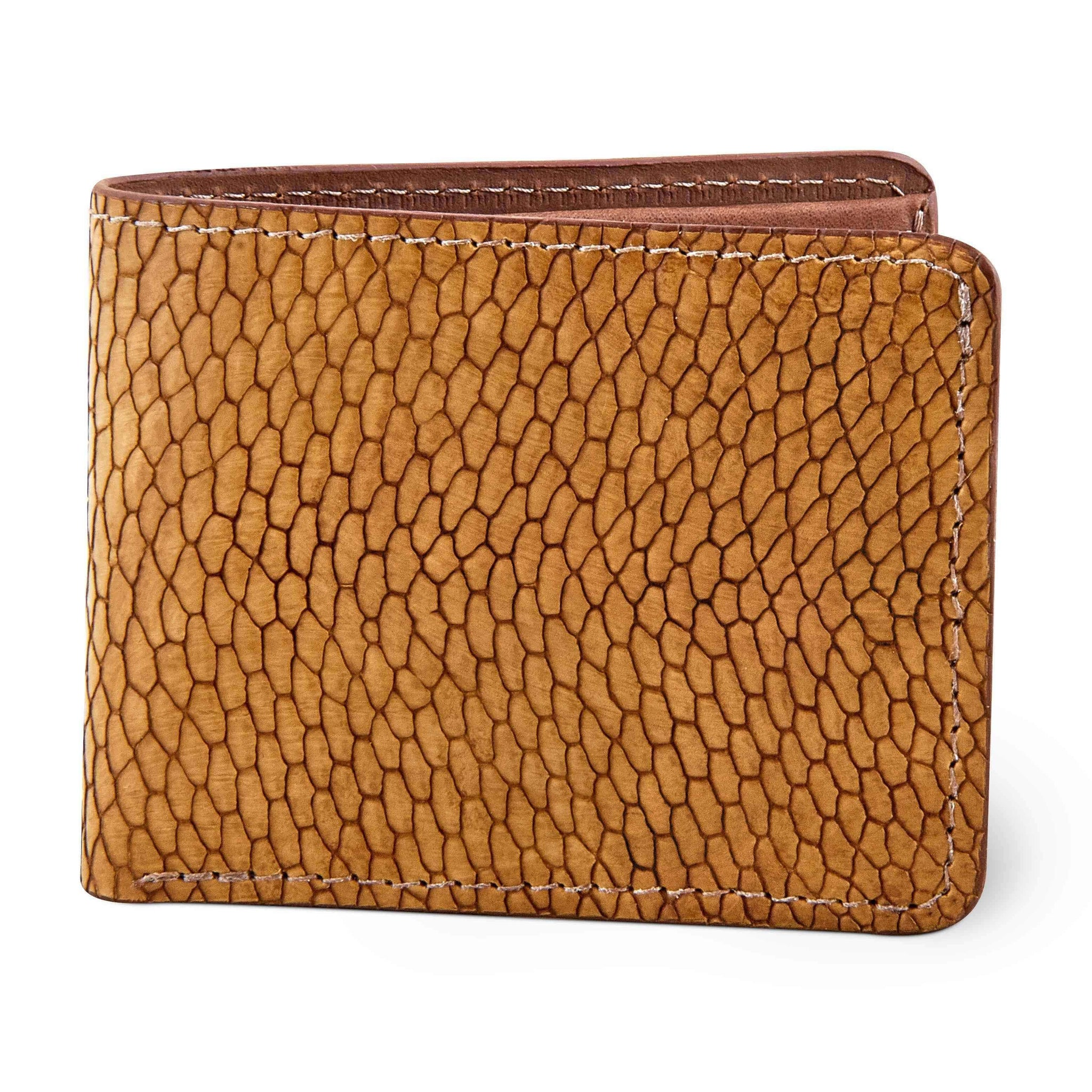 Beaver tail leather wallet