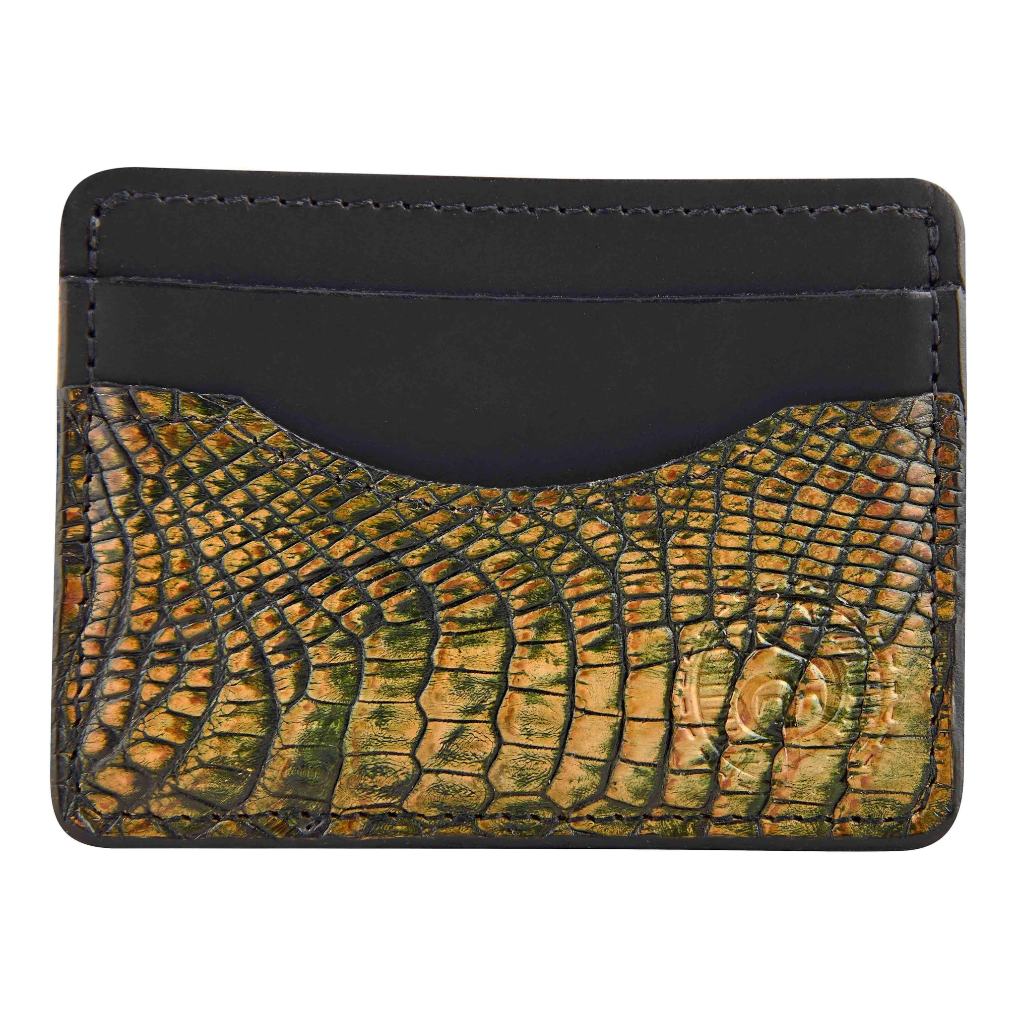 Alligator skin credit card holder wallet