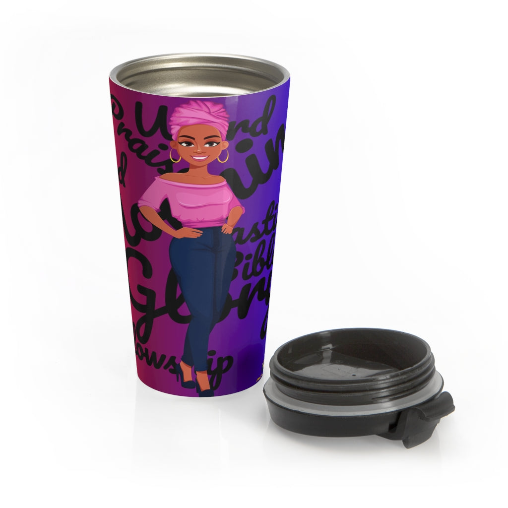 Morning Glory Stainless Steel Travel Mug