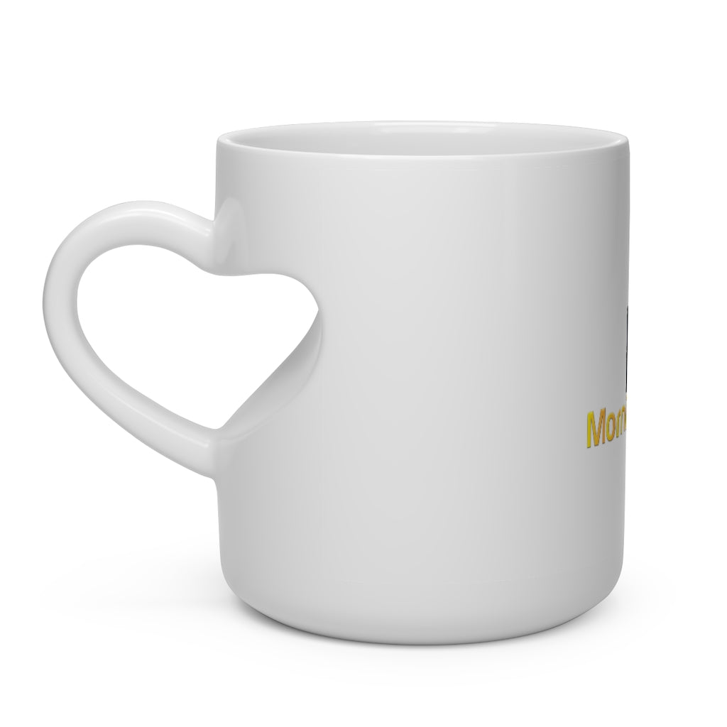 Morning Glory Heart Shape Mug
