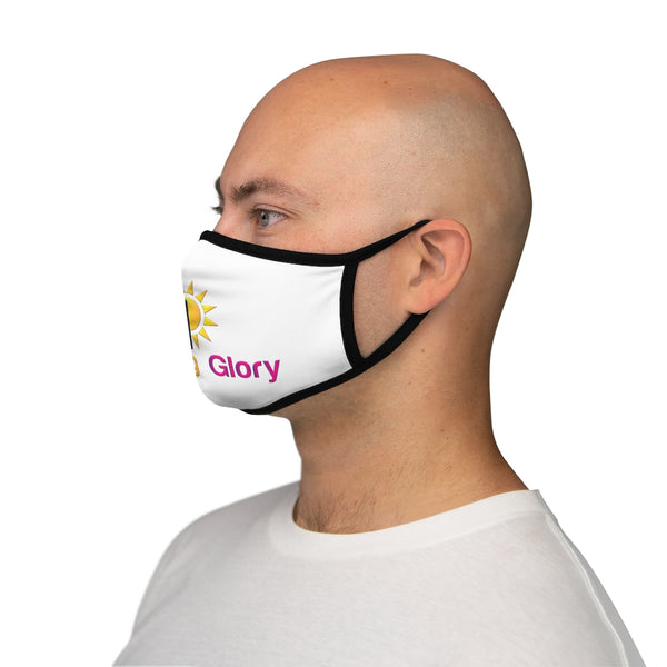 Morning Glory Fitted Polyester Face Mask