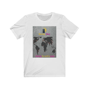 Open image in slideshow, Covering the World in Prayer Unisex Jersey Short Sleeve Tee