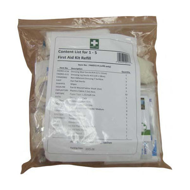 First Aid Kit, Refill - 1-5 People - FAK018R